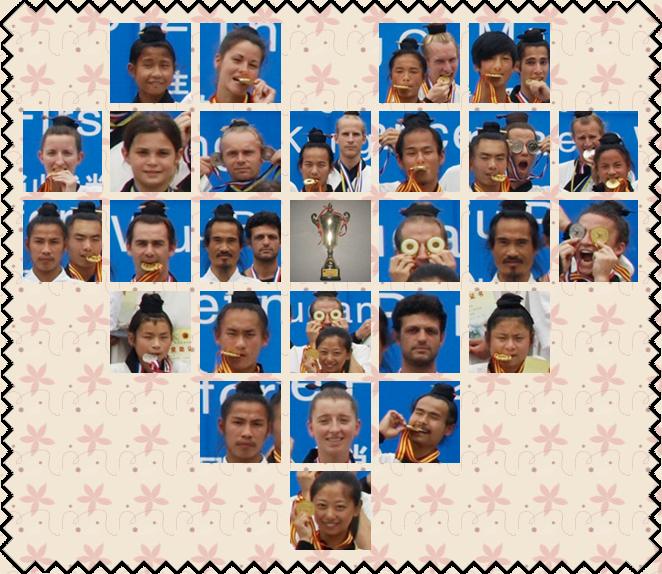 首届演武大会获奖者的笑脸(1)
