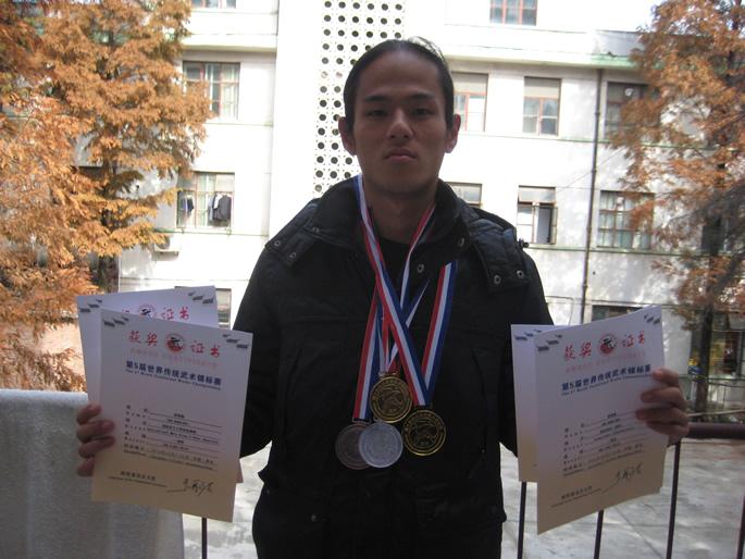 武术健儿-谭善魁(中华台北)在第五届世界传统武术锦标赛中获奖