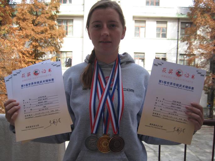武术健儿-MELANIE(加拿大)在第五届世界传统武术锦标赛中获奖