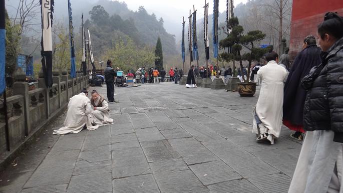 我馆学员参加《新白发魔女传》武当山取景拍摄
