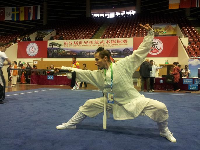 我馆学员JEFF(美国)参加第五届世界传统武术锦标赛