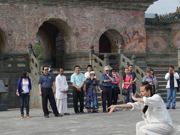 我馆学员JEFF(美国)展示武当八卦掌