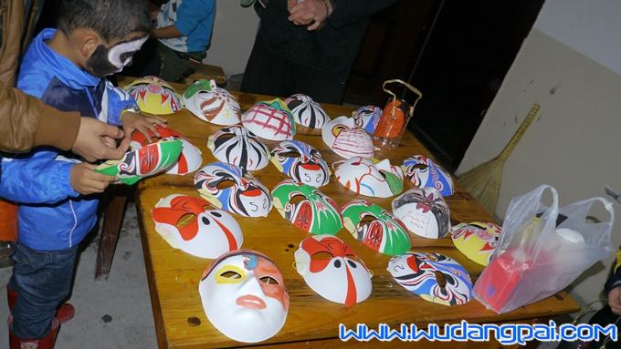 制作的面具
