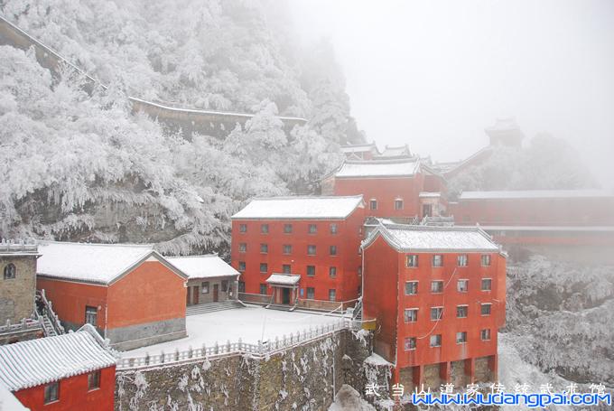 武当山春雪美景