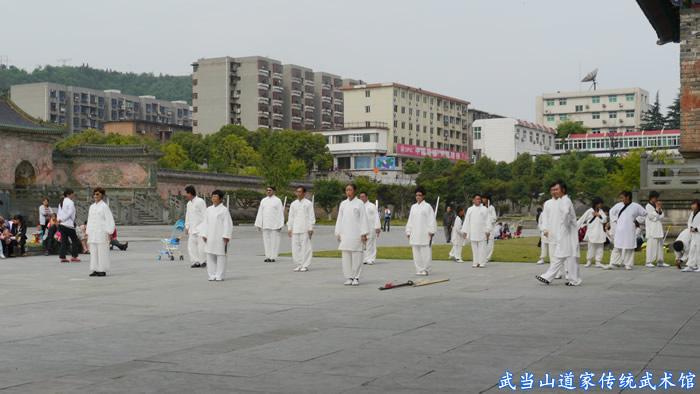 团队玄门剑学员准备上场展示7天所学