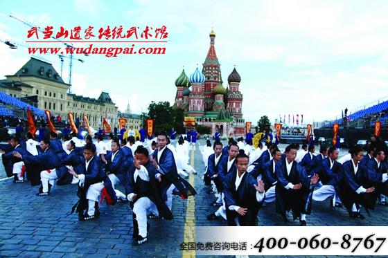 武当功夫现身2014莫斯科国际军乐节110人太极惊艳全场视频