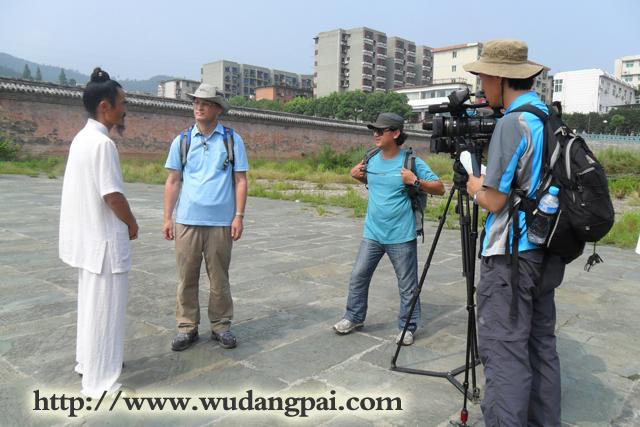 韩国电视台到武当道家传统武术馆了解武当功夫