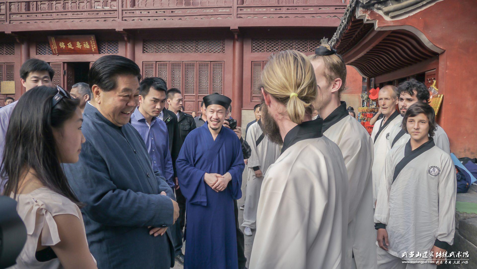2016年武馆国外学员与贾庆林会话